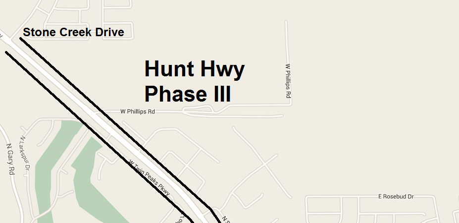 Hunt Hwy to Open Up Next Friday